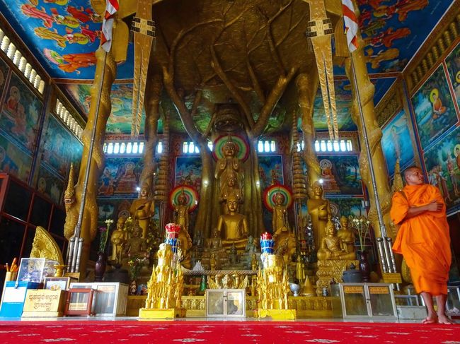 ASIA Cambodia Golden Temple Orange Phnom Penh South East Asia Travel Altar Cambodian Culture Cultures Golden Hour Indoors  Monk  Monks Monks In Temple Place Of Worship Religion Sculpture Southeast Asia Southeastasia Spirituality Statue Temple Travel Destinations