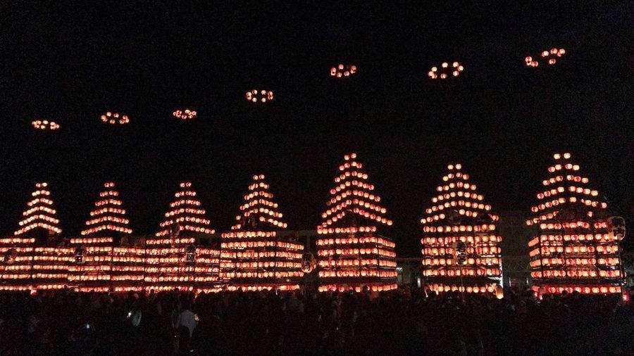 二本松提灯祭り Hosumi Night Illuminated Outdoors No People Low Angle View Sky