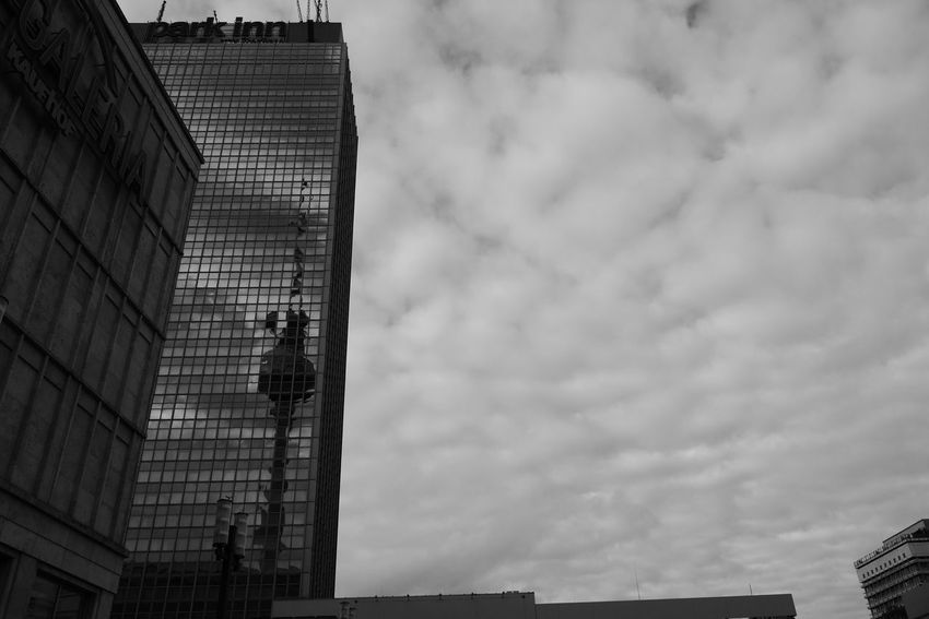Capture Berlin Sky Low Angle View Architecture Building Exterior Built Structure Cloud - Sky No People Outdoors Day Modern Skyscraper Nature