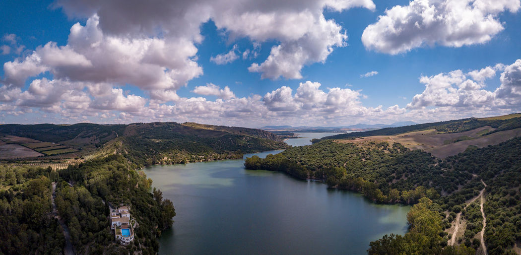 Andalucía Andalusia Panorama SPAIN Sunny Beauty In Nature Bornos Cloud - Sky Day Idyllic Lake Landscape Nature No People Plant Reflection Scenics - Nature Sky Spaın Tranquil Scene Tranquility Tree Water The Great Outdoors - 2018 EyeEm Awards