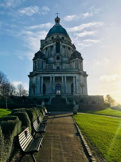 Ashton Memorial No People United Kingdom Lancashire UK Lancaster Williamson Park Memorial Architecture Sky Dome Day Cloud - Sky No People Statue Outdoors Grass Building Exterior Nature