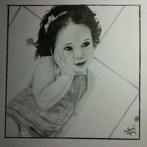 Art Drawing Cute Baby Color Portrait