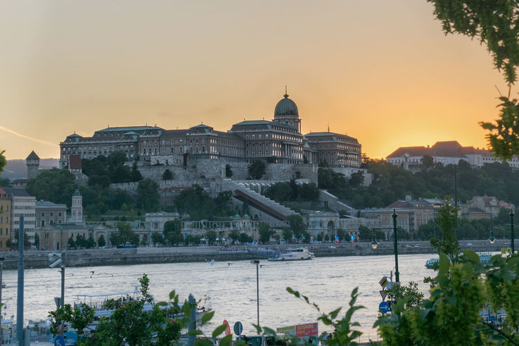 Buda Casle sunset Buda Buda Castle Budapest Danube Duna EyeEmNewHere Architecture Budacastle Building Building Exterior Built Structure History Sky Sunset The Past Tourism Travel Travel Destinations Water
