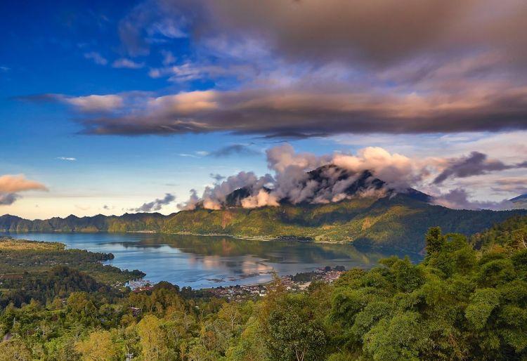 Mount Batur, Indonesia Sky Cloud - Sky Water Beauty In Nature Plant Scenics - Nature Tree Mountain Nature Landscape