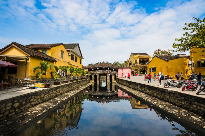 Chua Cau - Hoi An Architecture Hoi An Houses Beauty In Nature Blue Sky Bluesky Brigde Cloud - Sky Day Landscape Outdoors People Sky Water Waterfront Summer Exploratorium Adventures In The City