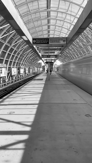 View of railroad station platform