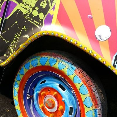 Lots of Colours at Kgaf Street Art Installation Art Kitschy Indian Street Photography Colourful Car