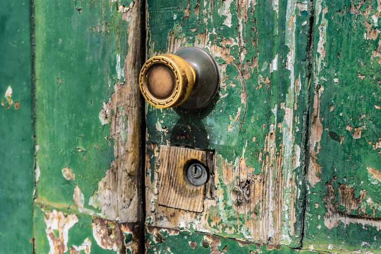 Close-Up Of Old Doorknob