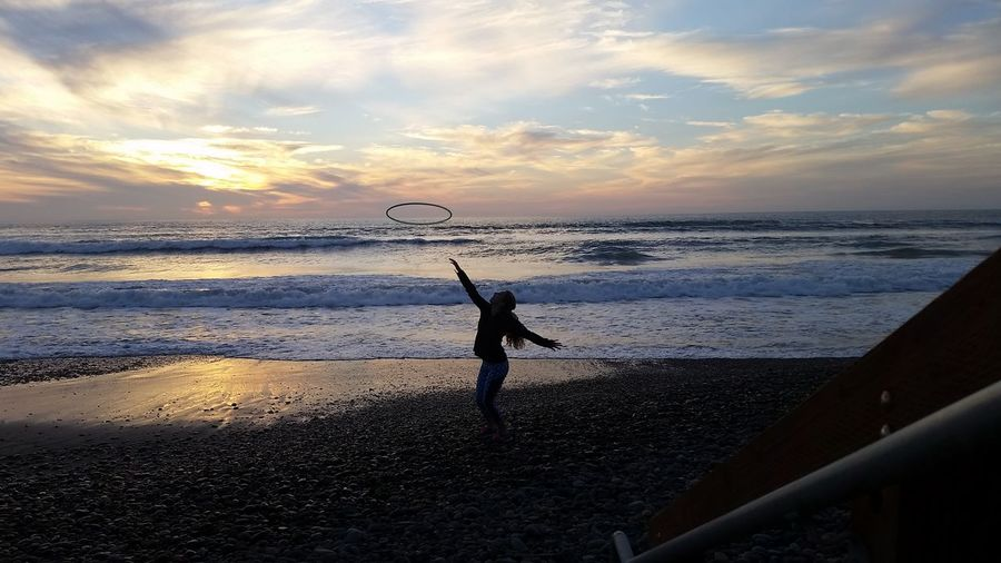 California California Love San Diego Silhouette SoCal Torrey Pines Beach Beauty In Nature Coastlines Hulahoop Hulahoopgirl Nature Outdoors Scenics Sky State Reserve Sunset Torrey Pines State Beach Tranquility Second Acts