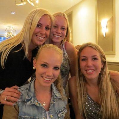 With My Family Cousins  dutch days ago love madeleine jaimy natas girls blond happy smile great evening dinner ?