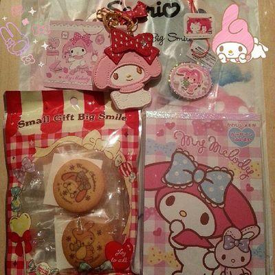 Mymelody Sanrio Cute 今日発売のマイメロ グッズのキーホルダー買ってきた(*^^*)