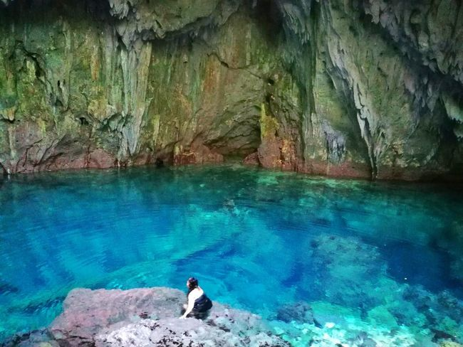 Linao Cave Lagoon Landscape_Collection Caves Water Real People Rock - Object One Person Day Nature Beauty In Nature Scenics