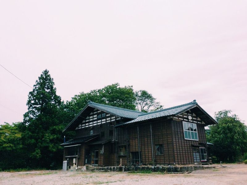 Old follk house in Niigata Built Structure Clear Sky Sky Outdoors No People Japan Niigata-shi Japan Photography Niigata House Old Buildings