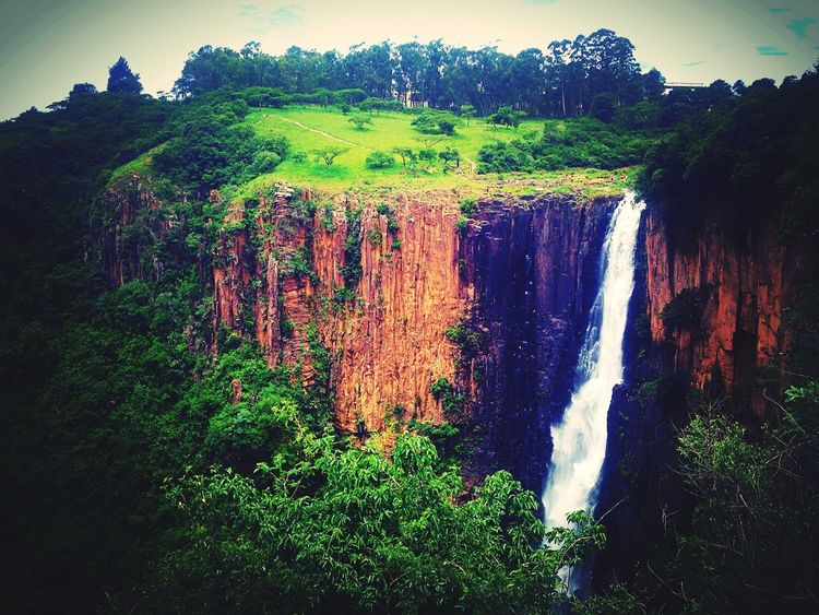 Escaping View Waterfall South Africa Nature Kzn