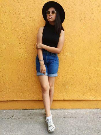 EyeEm Selects Casual Clothing Fashion Beauty Beautiful Woman Casualphotography Photography Yellow Yellow Background EyeEmNewHere
