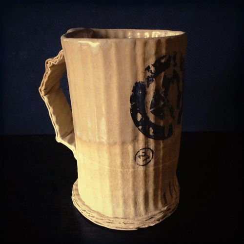 Lieblingsteil Handmade Pottery Cardboard Mug Black Background IPhoneography Iphoneonly @timkowalczykpottery