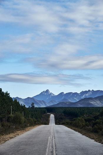 Diminishing perspective road along landscape