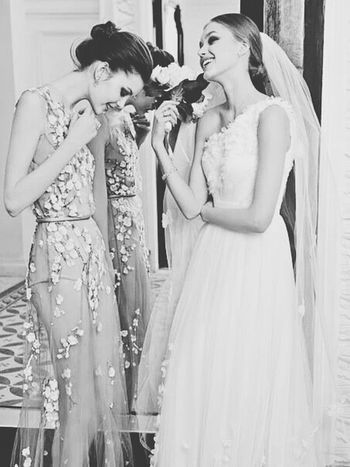 cute moments! Hello World A Moment With The Bride Bridesmaid Wedding Dress