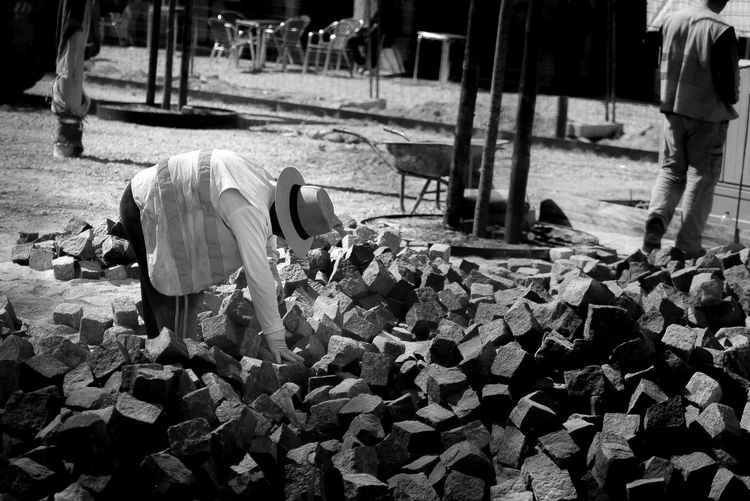Blackandwhite Brick Day Men Outdoors Real People Streetphotography Working