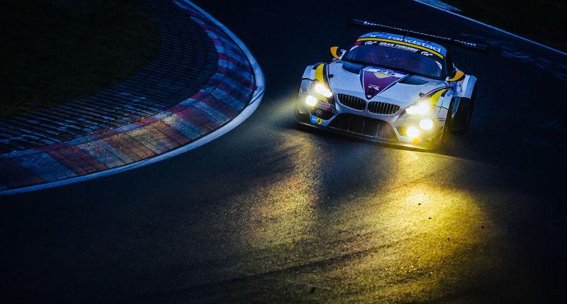 Nightphotography Nordschleife Racing Gt3 Headlights Illuminated Night No People Racing Car Transportation