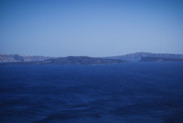 Blue Sky Greek Islands Honeymoon Mediterranean  Santorini, Greece Sea Sky Tranquility