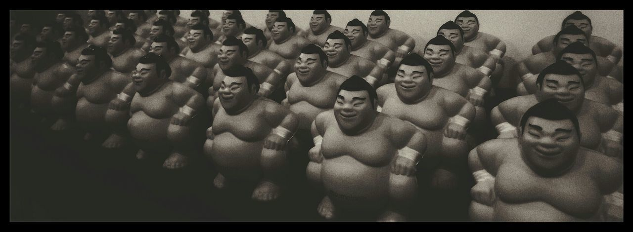 Men Large Group Of People Sumo Sumowrestler Order Black And White Black And White Friday