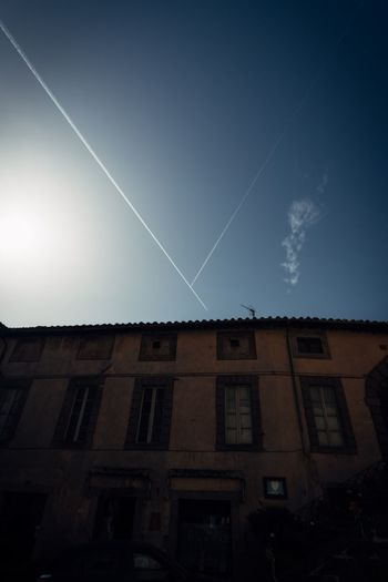 Astronomy Vapor Trail Astrology Sign Space Constellation Clear Sky Star - Space Long Exposure Sky Building Exterior
