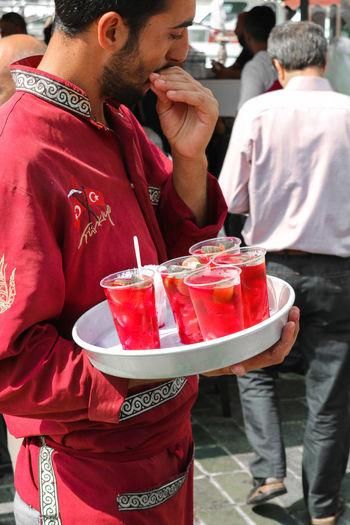 Pickles in Vinegar Kadıköy Moda Uskudar Istabul Istanbul Turkey Türkiye Turkishfollowers EyeEm EyeEm Selects EyeEm Best Shots Red Red Color Food Healthy Lifestyle Food And Drink No Fiter Real People Drinking Freshness Focus On Foreground Drinking Glass Incidental People Drink Lifestyles