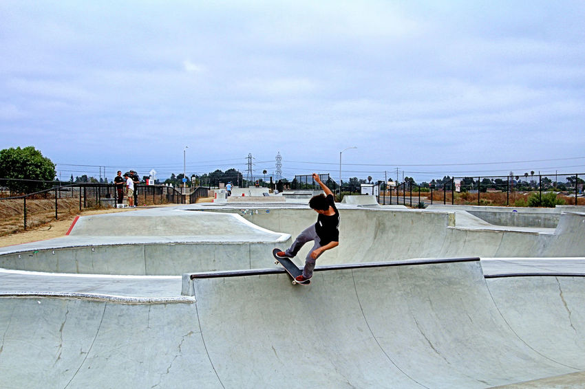Oceanside Skatepark. Lots of Bowls. Skateboard, Sport, Skateboarding, Skateboarder, Leisure, Skate, Park, Fun, People, Skater, Lifestyle, Outdoor, Active, Skating, Horizontal, Culture, Recreation, Board, Youth, Urban, Old, Healthy, Spirit, Youthful, Activity, Balance, Close-up, Extreme, Sty Skateboarders, Falls, Bowls, Young, Youth, Tricks, Oceanside, San Diego, California,