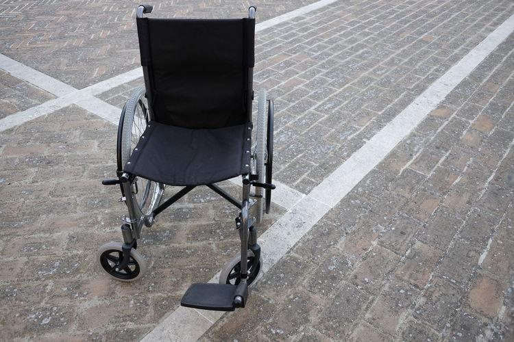 Wheelchair in floor