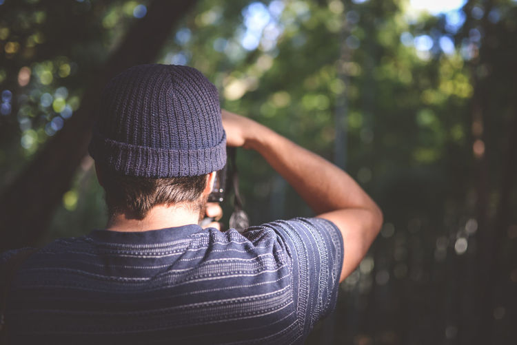 Close-Up Of Man Photographing