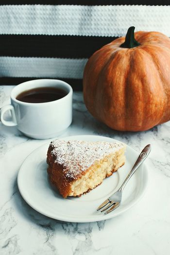 Helloween Food And Drink Sweet Food Dessert Cake Food Pumpkin Indoors  Autumn Tart - Dessert