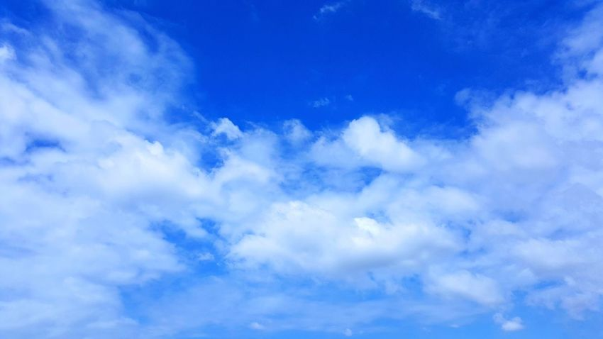 Fresh Blue Sky Fluffy White Cloud Nature Backgrounds Scenics Day Outdoors Light And Shadow Moment Pattern Weather Colorful God Bless Pray Good Happen Hope Dream Happy Newthing
