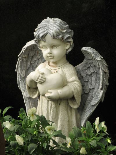 childlike angel sculpture with a heart, black background Christianity Faith Angel Angel Sculpture Art And Craft Belief Black Background Creativity Graveyard Human Representation Innocence Like A Child Little Angle Religion Representation Sculpture Spirituality Statue Stone Material