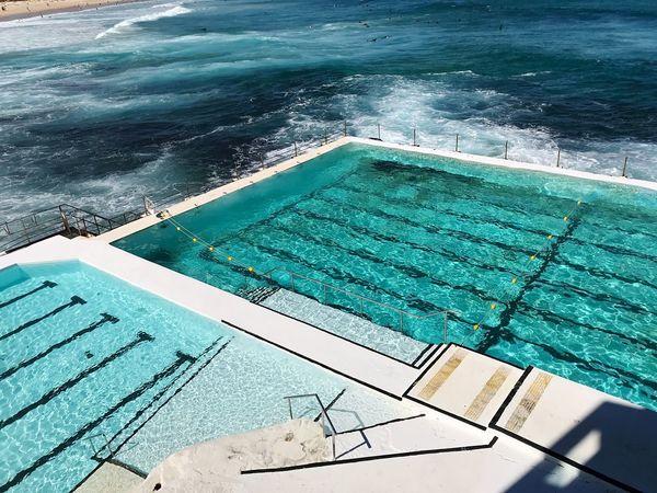 Bondi Beach Icebergs, Bondi Beach Swimming Pool Water High Angle View Day No People Outdoors Sea Nature