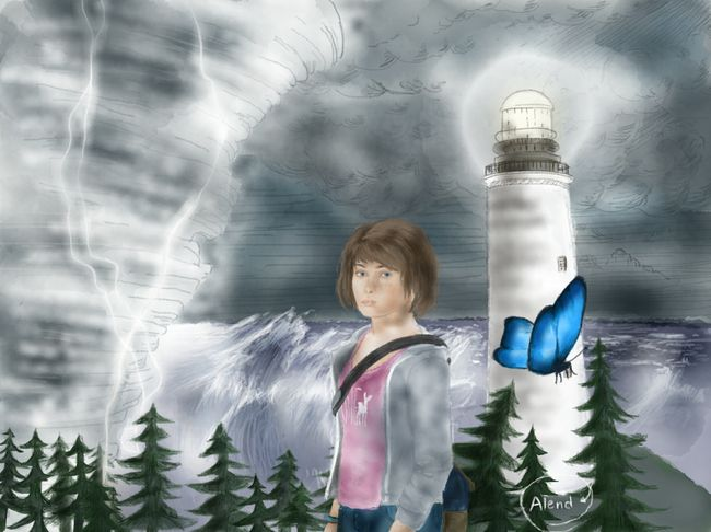 """When a door closes, a window opens... or, something like that"". Max Caulfield! Drawn using Paper by FiftyThree app on iPad! 😀 Lifeisstrange Lifeisstrangefans Maxcaulfield ChloePrice Painting Digitalart  Paper53 Paperby53 Art Madewithpaper"