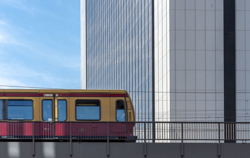 View of train against sky