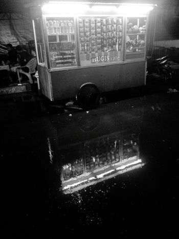 Transportation Outdoors Land Vehicle Mode Of Transport Water No People Fire Engine Night Rescue PTB Maros Black And White Photography Street Vendors Rainy Night