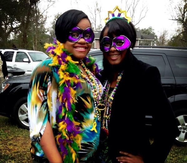 My little cousin && I after Mardi Gras