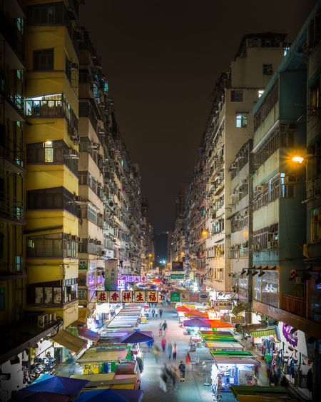 Night Illuminated City City Street Celebration Travel Destinations Retail Place Multi Colored Tree Outdoors Building Exterior No People Architecture Skyscraper Nightshot Night Market Hong Kong Mongkok Busy Street Hectic Colorful Urban Urban Architecture Symmetry Composition EyeEmNewHere