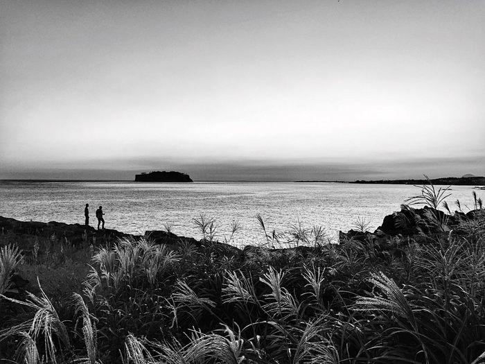 At Waedolgae in Jeju island, Korea IPhoneography Monochrome Black & White JEJU ISLAND  EyeEm Best Edits From My Point Of View Seaside Landscape_bw Travel Photography Light And Shadow