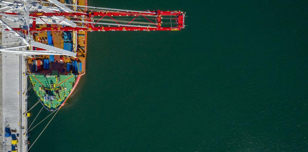 Crane on a ship