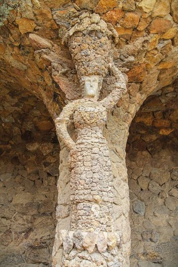 Washer Woman Ancient Ancient Civilization Arch Architectural Feature Architecture Architecture Barcelona Built Structure Day Full Frame Garden Gaudi Gaudì Architecture Work History No People Outdoors Parc Parc Guell Park Guell SPAIN Stone Stone Material The Past Washerwoman Woman