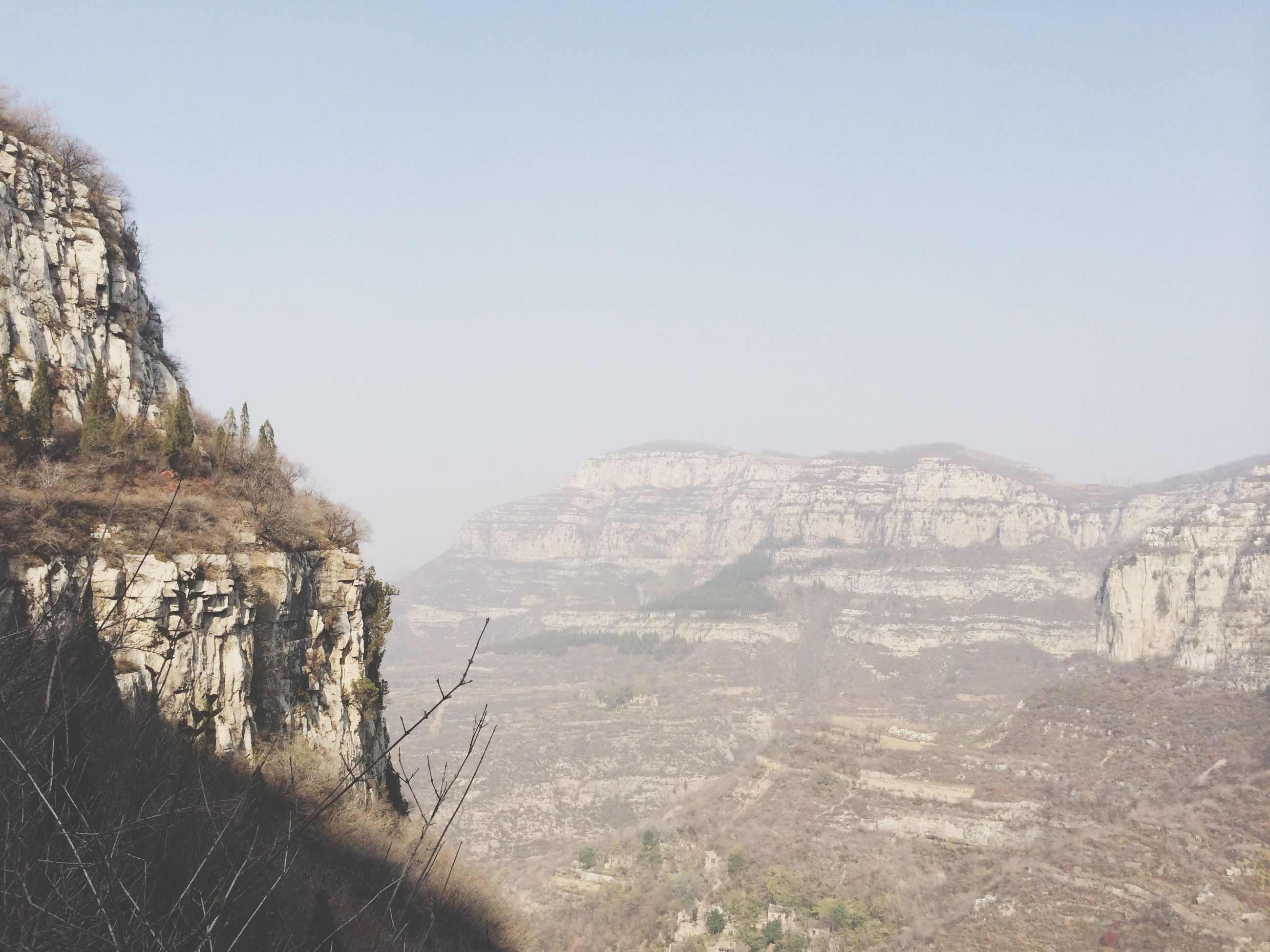 clear sky, tranquility, tranquil scene, scenics, beauty in nature, landscape, copy space, rock formation, mountain, nature, rock - object, non-urban scene, arid climate, geology, physical geography, remote, idyllic, cliff, tourism, day