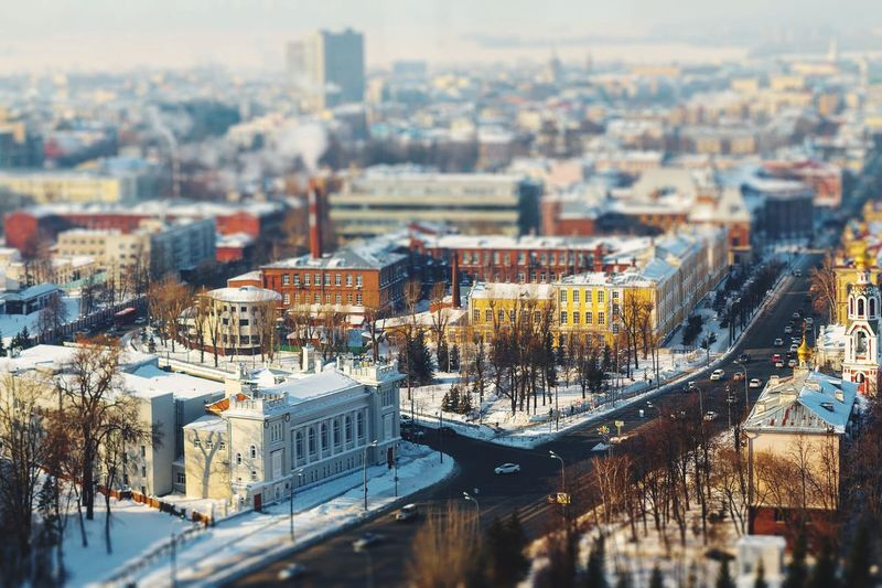 Architecture Built Structure Building Exterior Cityscape City High Angle View No People Residential Building Day Transportation Winter Tilt-shift Sky Road Snow Stories From The City