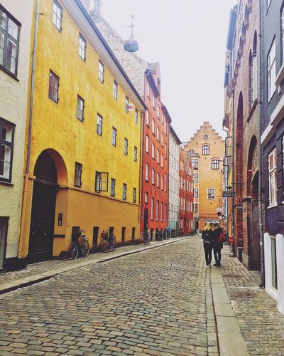 Magstræde Copenhagen Magstræde City Life Copenhagen Denmark Travel 2018 EyeEm Travelpic Beautiful Destinations Building Exterior Architecture Built Structure City Building Street Sky Nature Day Real People Cobblestone Group Of People Lifestyles Clear Sky Walking Outdoors