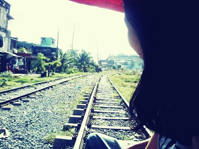 This a photo captured while riding in a trolley passing Sta Mesa Station to Beata Station. Trolleyexperince Oldstamesa