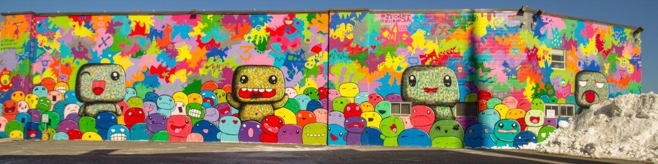 Urban Art, Public Art Mural Art Multi Colored Art And Craft Creativity Graffiti Wall - Building Feature Day Street Art