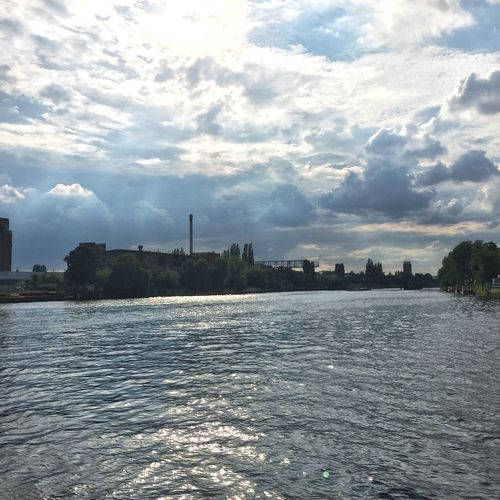 Spree Spree River River Clouds And Sky Clouds Sky Sky And Clouds Berlin Berliner Ansichten Sun