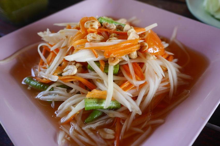 Somtum Thai Somtum Somtum Pu-plarha Thai Esan Food Thai Food EyeEm Selects Cooking Cooking At Home Plate Chinese Food Close-up Food And Drink